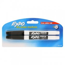 Expo Black Fine Tip, 2 Pk.