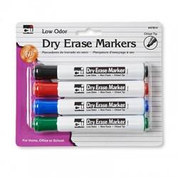 Dry Erase Marker, Chisel Tip 4 ct.