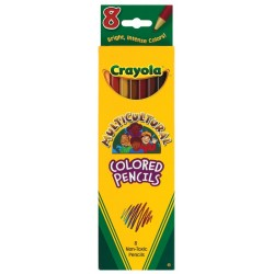 Crayola Colored Pencils Multicultural, 8 ct