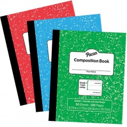 "Ruled Composition Book, 3/8"", Grade 3, Blue"