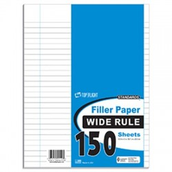 Filler Paper, Wide Rule 150 Sheets