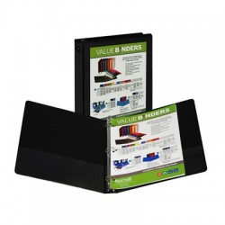 "1"" Insertable View Ring Binder, Black"
