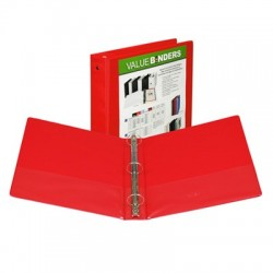 "1-1/2"" Insertable View Ring Binder, Red"