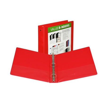 """1-1/2"""" Insertable View Ring Binder, Red"""