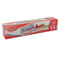Zipper Seal Gallon Storage Bags, 15 ct.