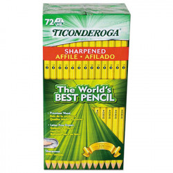 Ticonderoga No. 2 Pencils, Pre-sharpened, 72 Ct.