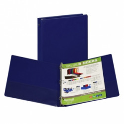 "1-1/2"" Vinyl Ring Binder, Dark Blue"