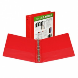 "1-1/2"" Vinyl Ring Binder, Red"
