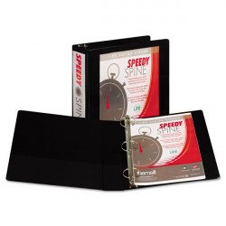 "1-1/2"" Insertable View Ring Binder, Black"