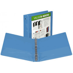 "1"" Insertable View Binder, Light Blue"