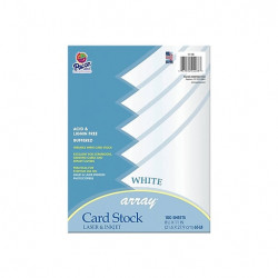 "White Card Stock 8-1/2"" x 11"""