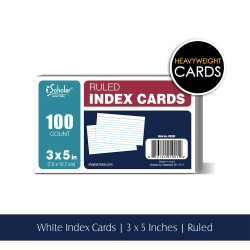 "White Index Cards, Ruled 3"" x 5"", 100 Ct"