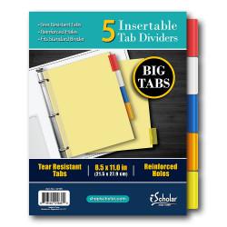 5 Tab Insert Dividers