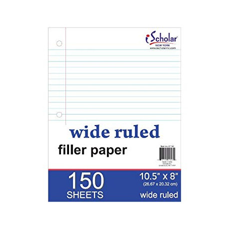 Filler Paper Wide Ruled, 150 ct.