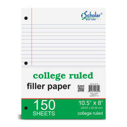 Filler Paper College Ruled, 150 ct.