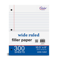 Filler Paper Wide Rule 300 Sheets