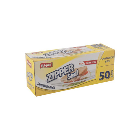 Zipper Seal Sandwich Storage Bags, 50 ct.