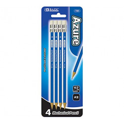 Bazic Azure Mechanical Pencils, 4 ct., 0.7mm