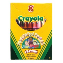 Crayola Multicultural Crayons, Large Size. 8 ct