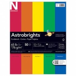 Astrobrights Colored Cardstock Primary Assortment
