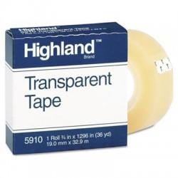 "Highland Transparent Tape, 3/4"" x 36 yds."