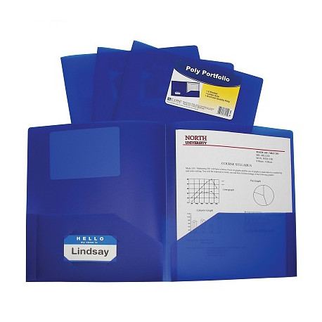 Blue 2 Pocket Poly