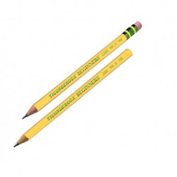 Ticonderoga Beginner Pencil, w/ Eraser, 12 ct
