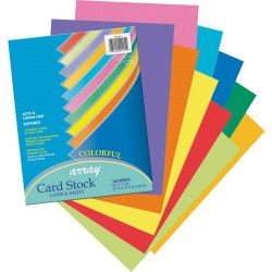 Card Stock Colorful Assortment