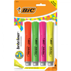 Brite Liner Grip XL Highlighters, 4 pk.