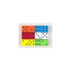 Foam Dice 16mm 12ct