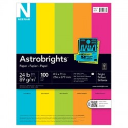 ASTROBRIGHTS Copy Paper, Bright 100 sheets