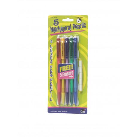 Mechanical Pencils 0.7 lead 5 count