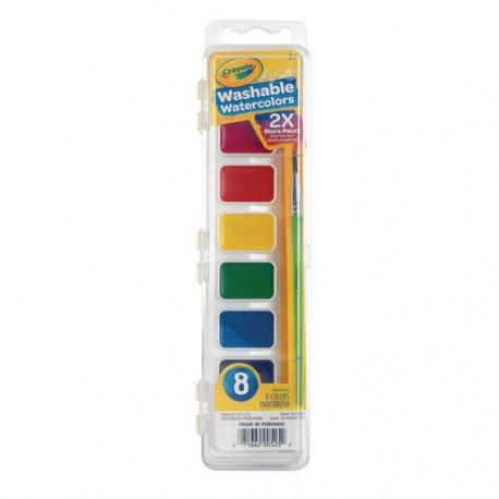 Crayola Washable Watercolors, 8 Colors