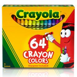 Crayola Regular Size Crayons 64 ct