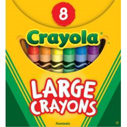 Crayola Large Size Crayons 8 ct