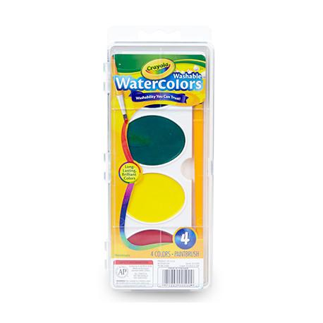 Crayola Jumbo Washable Watercolor Set of 4