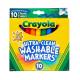 Crayola Ultraclean Broadline Washable Markers, 10 ct