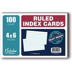 "Index Card 4""x 6"" Ruled"
