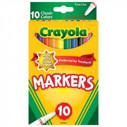 Crayola Classic Colors Fine Tip 10 ct