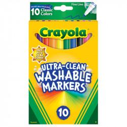 Crayola Washable Markers Classic Fine 10 ct