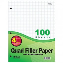 Quad Filler Paper, 100 ct.