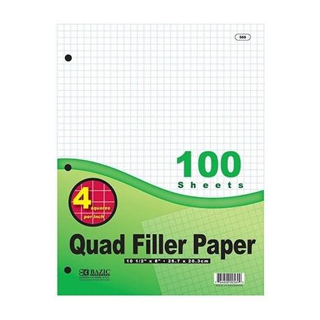 Quad Filler Paper, 100 ct.