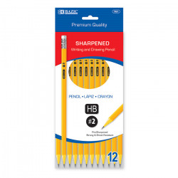 Premium Yellow Pencils Pre-sharpened 12ct