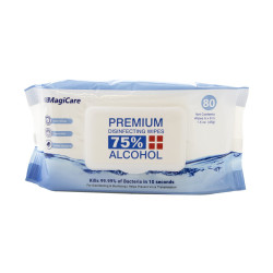 Magicare 75% Alcohol Wipes 80 count