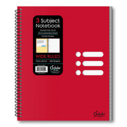 Xpression 3 Subject Poly Notebook