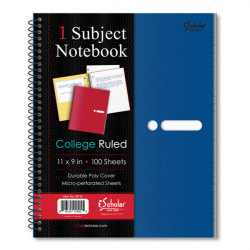 Xpression 1 Subject Poly Notebook