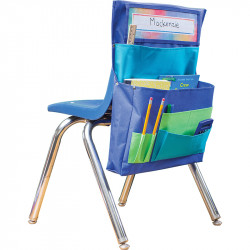 blue teal lime chair pocket