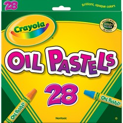 Crayola Oil Pastels, 28 color set