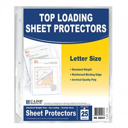 Clear Sheet Protectors, 25 ct.