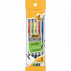 Mechanical Pencils, 0.7mm Lead, 5 ct.